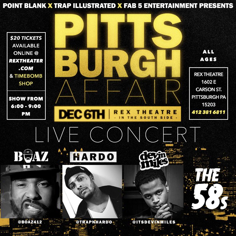 PITTSBURGH AFFAIR Event Brainofbmw Boaz Devin Miles Hardo The 58s