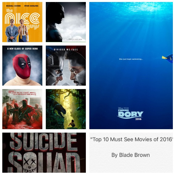 Top 10 must see movies 2016