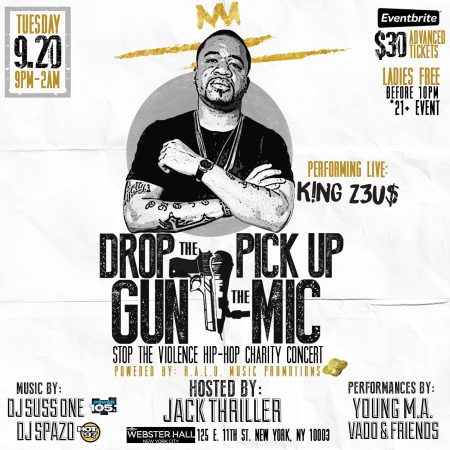 Drop The Gun Pick Up The Mic Stop The Violence Hip Hop Charity Event